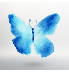 Butterfly watercolor drawing art isolated vector image