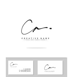 C a ca initial logo signature handwriting vector