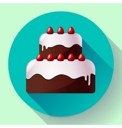 chocolate wedding cake with Strawberries vector image