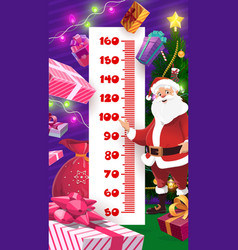 christmas and birthday gifts kids height chart vector image