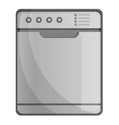 Closed dishwasher icon cartoon style vector