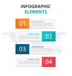 colorful banner business infographics elements vector image