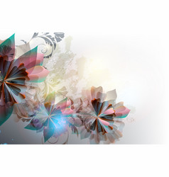 Colorful floral background in futuristic style vector
