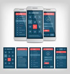 Conception mobile user interface vector