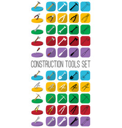 Construction tools set in different style outline vector
