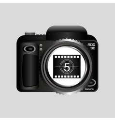 Digital photo camera roll countdown numbers vector