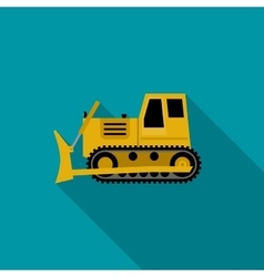 Dozer flat icon vector