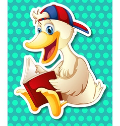 Duck and book vector