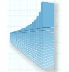 finance chart vector image vector image