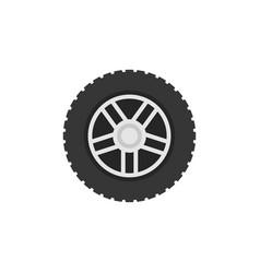 Flat car wheel icon - car service sign vector