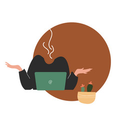flat style modern burnout at vector image