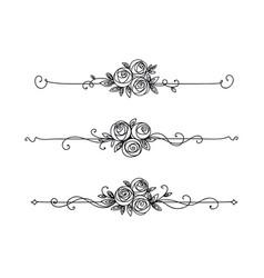 floral elegant pattern black and white vector image