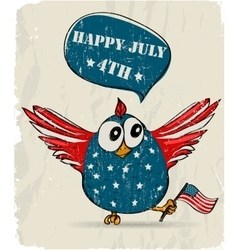 Funny patriotic bird vector image