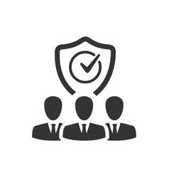 Group insurance icon vector