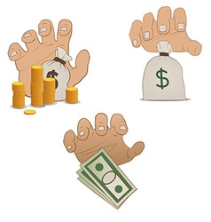 Hands on money vector
