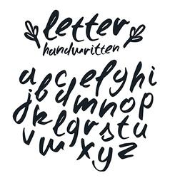 handwritten brush script vector image vector image