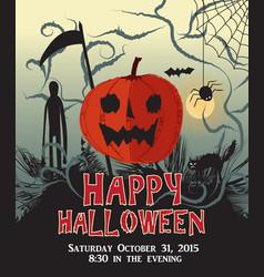 Happy halloween background pumpkin party poster vector