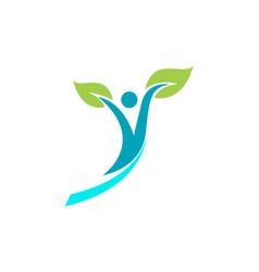 Health people logo and symbols success health vector