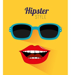 Hipster design over dotted yellow background vector
