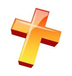 Icon the cross vector