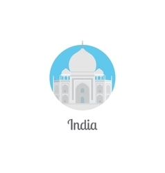 India landmark isolated round icon vector