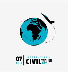 International civil aviation day vector