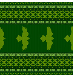 Knitted seamless celtic national ornament vector