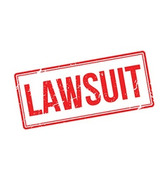 Lawsuit red rubber stamp on white vector