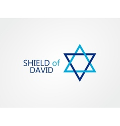 logo of star of David vector image