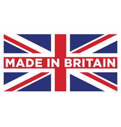 made in britain united kingdom uk logo vector image