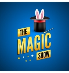 Magic poster design template Magician logo vector image