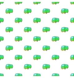 Minibus pattern cartoon style vector