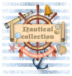 Nautical Collection 2 vector image vector image