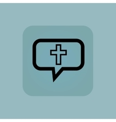 Pale blue christian cross message vector