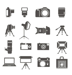 photo equipment silhouettes vector image