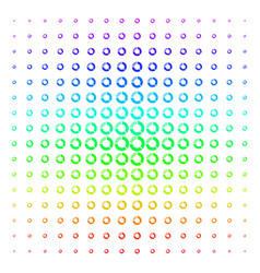 Pie chart icon halftone spectral grid vector