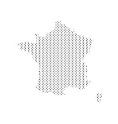 Plain map france vector