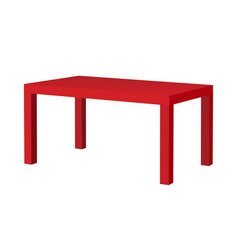 Red rectangular table vector
