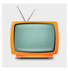 retro tv isolated transparent background vector image