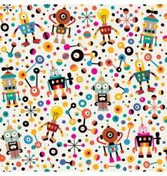 Robots pattern 4 vector