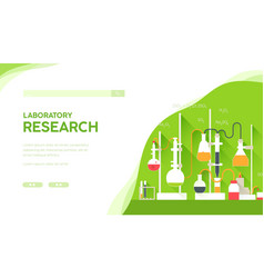 science laboratory equipment medical researches vector image