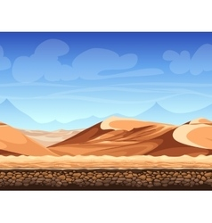 Seamless background desert vector
