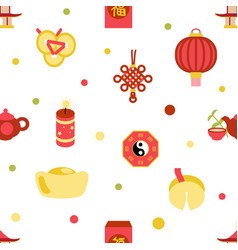 seamless chinese new year celebration party vector image