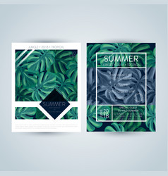 set bright and trendy summer posters vector image