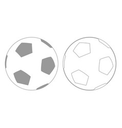 Soccer ball grey set icon vector