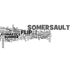 Somersault word cloud concept vector