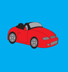 sport race car red vector image