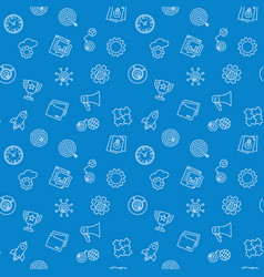 start up blue pattern seamless background vector image