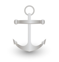 steel anchor on a white background vector image