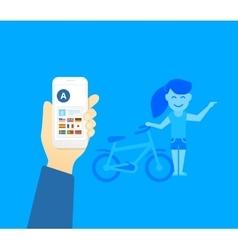 Translator mobile application vector